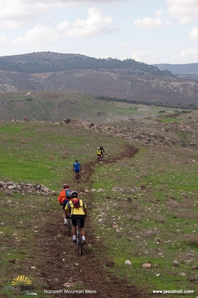 Nazareth Mountain Bikers on the Jesus Trail (Horns of Hattin)